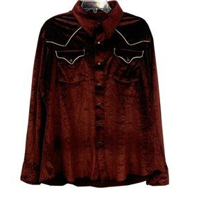Men's Rockabilly Western Cowboy Shirt  XL Velvet